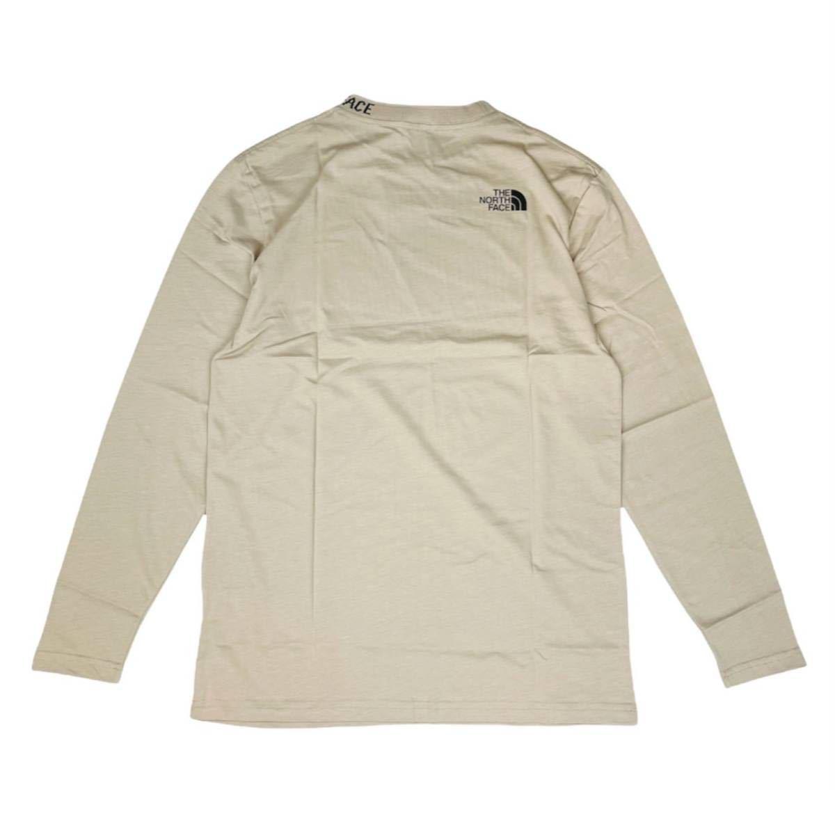 ザ ノースフェイス 長袖 Tシャツ ロンT レディース 首元ロゴ NF0A5ILW ベージュ ズーム Sサイズ THE NORTH FACE W NEW LS ZUMU T 新品