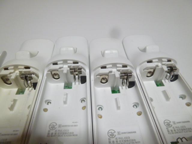 RSJ011《即日発送 送料無料 動作確認済》Wii リモコン ストラップ ジャケット カバー 白 4個セット 任天堂 純正 RVL-003 コントローラ