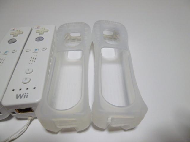 RSJ016《即日発送 送料無料 動作確認済》Wii リモコン ストラップ ジャケット カバー 白 2個セット 任天堂 純正 RVL-003 コントローラ
