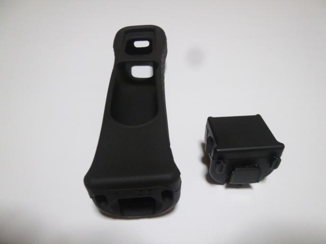 M012《送料無料 即日発送》Wii モーションプラス ジャケット 黒 ブラック(分解洗浄 動作確認済)リモコンカバー
