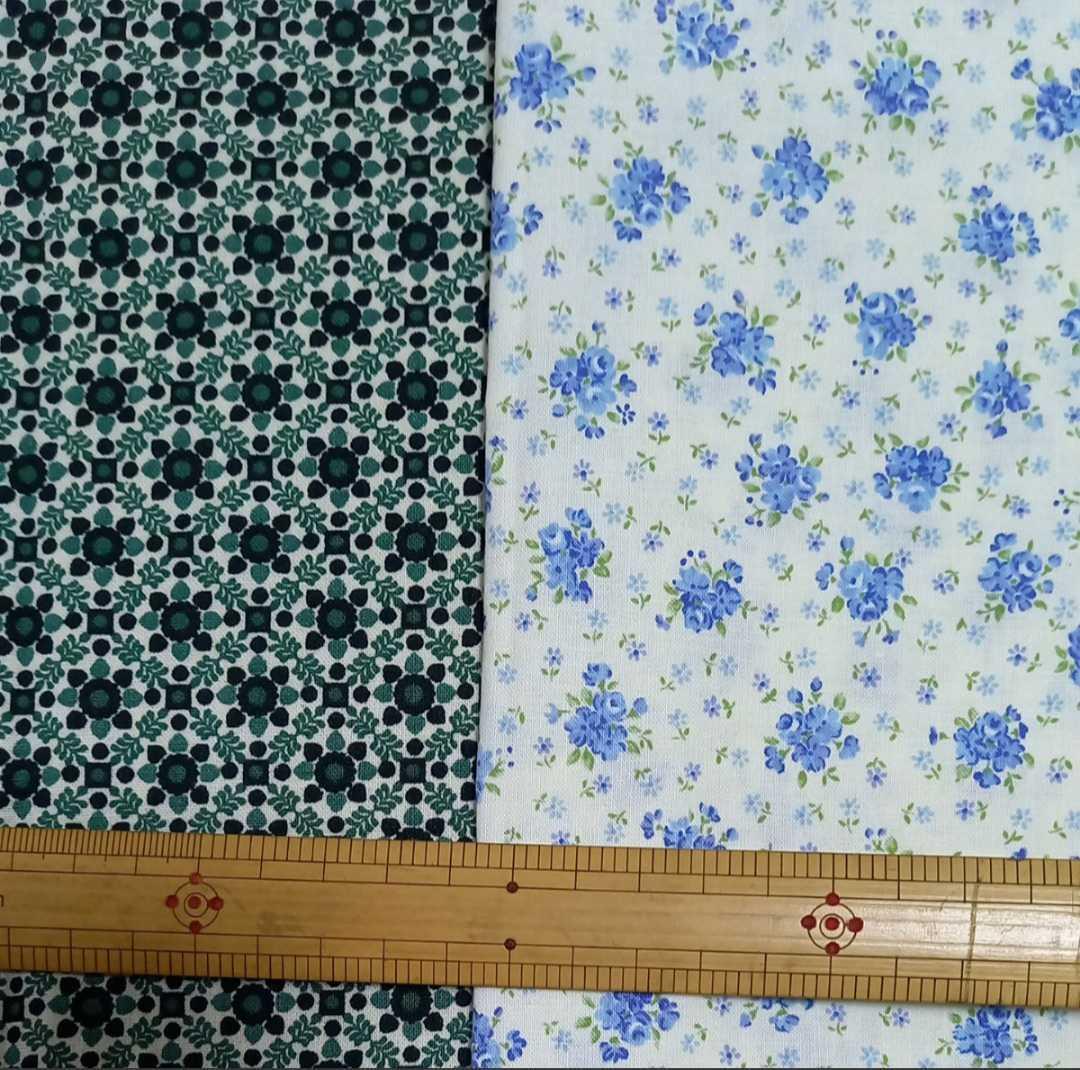 花柄 花 はな 小花 カットクロス はぎれ ハギレ 生地 布 パッチワーク 50cm×50cm 10枚セット