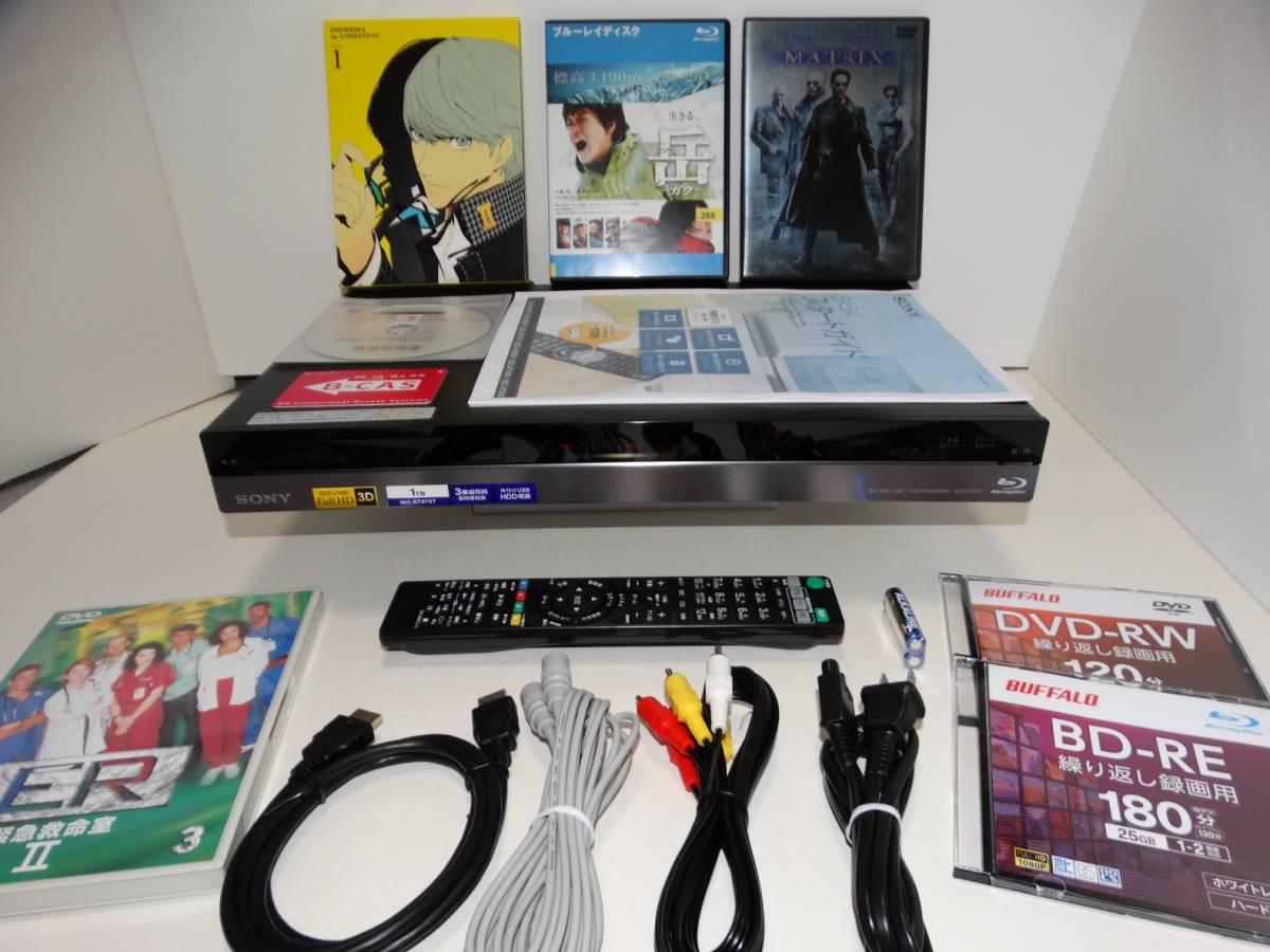 動作良好★SONY BDZ-AT970T / 1TB / 3番組同時録画 / 外付HDD対応 / 3D対応 / ブルーレイレコーダー / 11年製