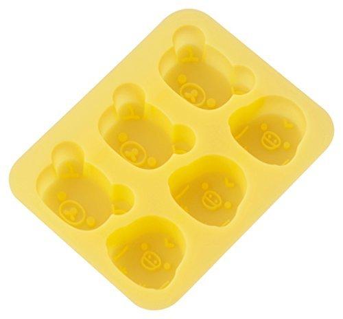 リラックマ 2.5×14×17.8cm 貝印 kai シリコン カップケーキ型 リラックマ & キイロイトリ DN0203_画像1
