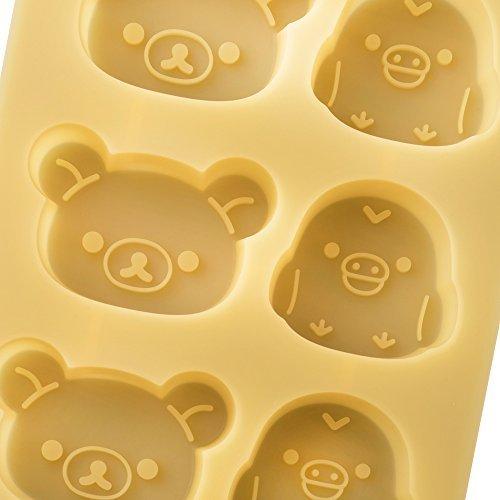 リラックマ 2.5×14×17.8cm 貝印 kai シリコン カップケーキ型 リラックマ & キイロイトリ DN0203_画像2