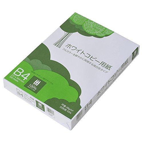 コピー用紙 B4 ホワイトコピー用紙 高白色 紙厚0.09mm ATK903 500枚_画像1