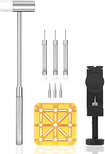 腕時計バンド調整 10点セット 腕時計ベルト調整/交換/修理ツール サイズ調整工具 耐久性_画像1