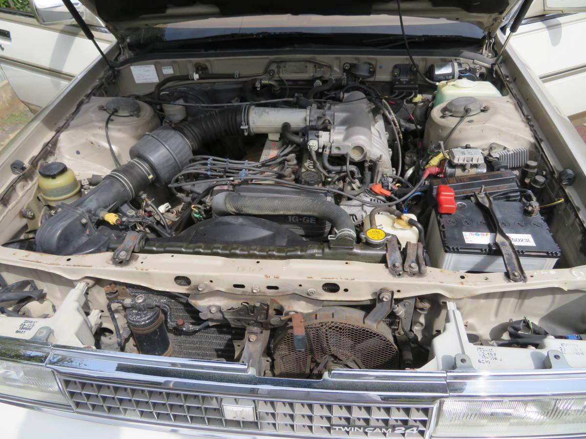 トヨタ クレスタ スーパールーセント ツインカム 24 1G A/T 昭和62年 60243㎞ ワンオーナー車 旧車_エンジン一発始動