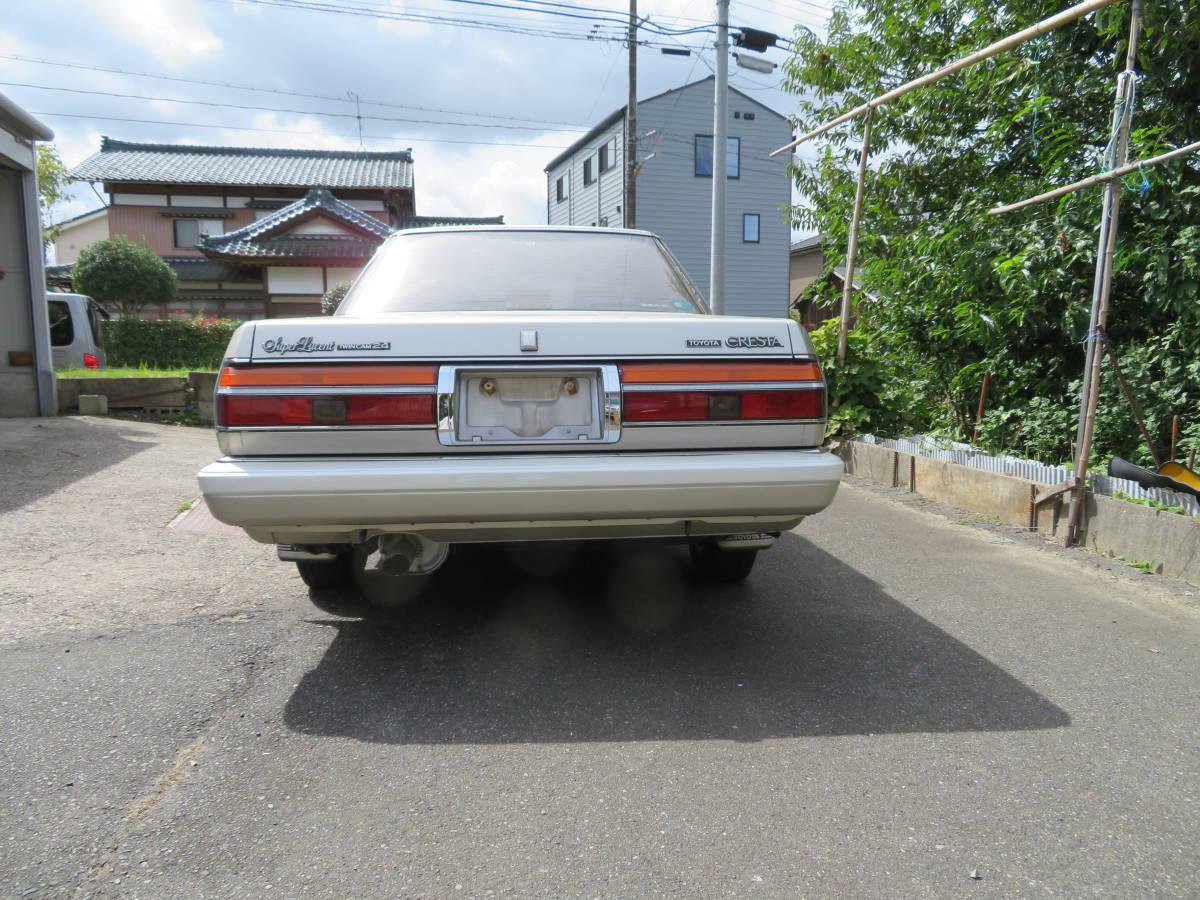 トヨタ クレスタ スーパールーセント ツインカム 24 1G A/T 昭和62年 60243㎞ ワンオーナー車 旧車_画像4