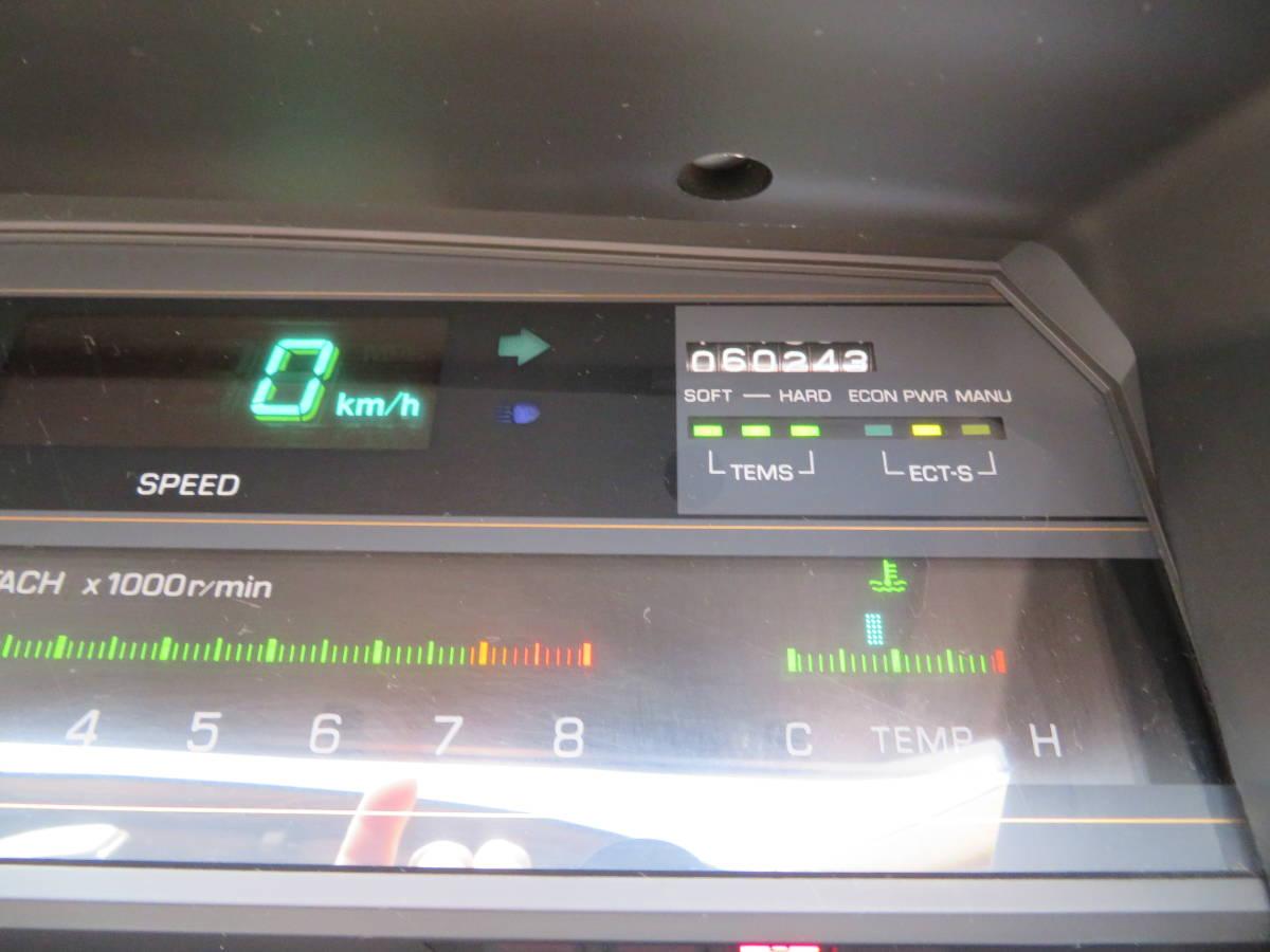 トヨタ クレスタ スーパールーセント ツインカム 24 1G A/T 昭和62年 60243㎞ ワンオーナー車 旧車_デジタルメーター