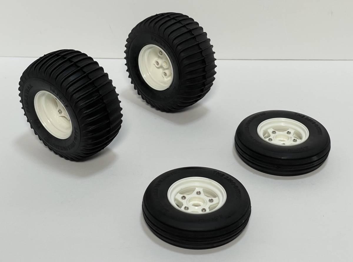 タミヤ グラスホッパー タイヤ ホイール 前後セット XB取り外し品 新品未使用 ホーネット ワーゲンオブローダー ファイティングバギー