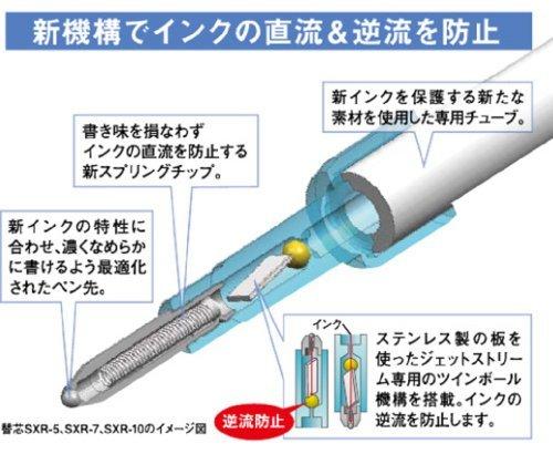 黒 0.5mm 三菱鉛筆 ボールペン替芯 ジェットストリームプライム 0.5 多色多機能 黒 3本 SXR20005.24_画像7