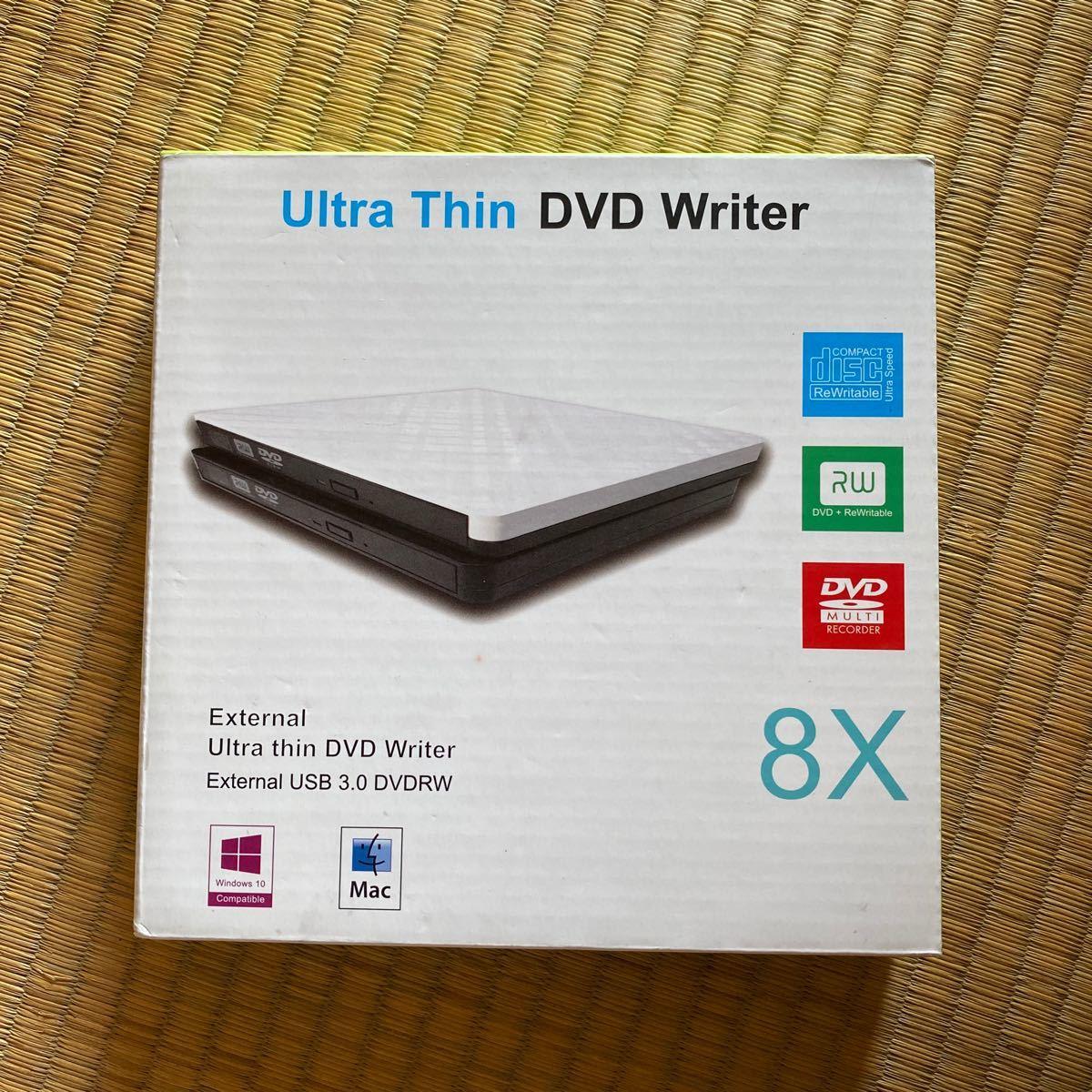 USB3.0 CD/DVD外付読み込み/記録 高速データ転送 DVD CD +/- RW (ブラック)