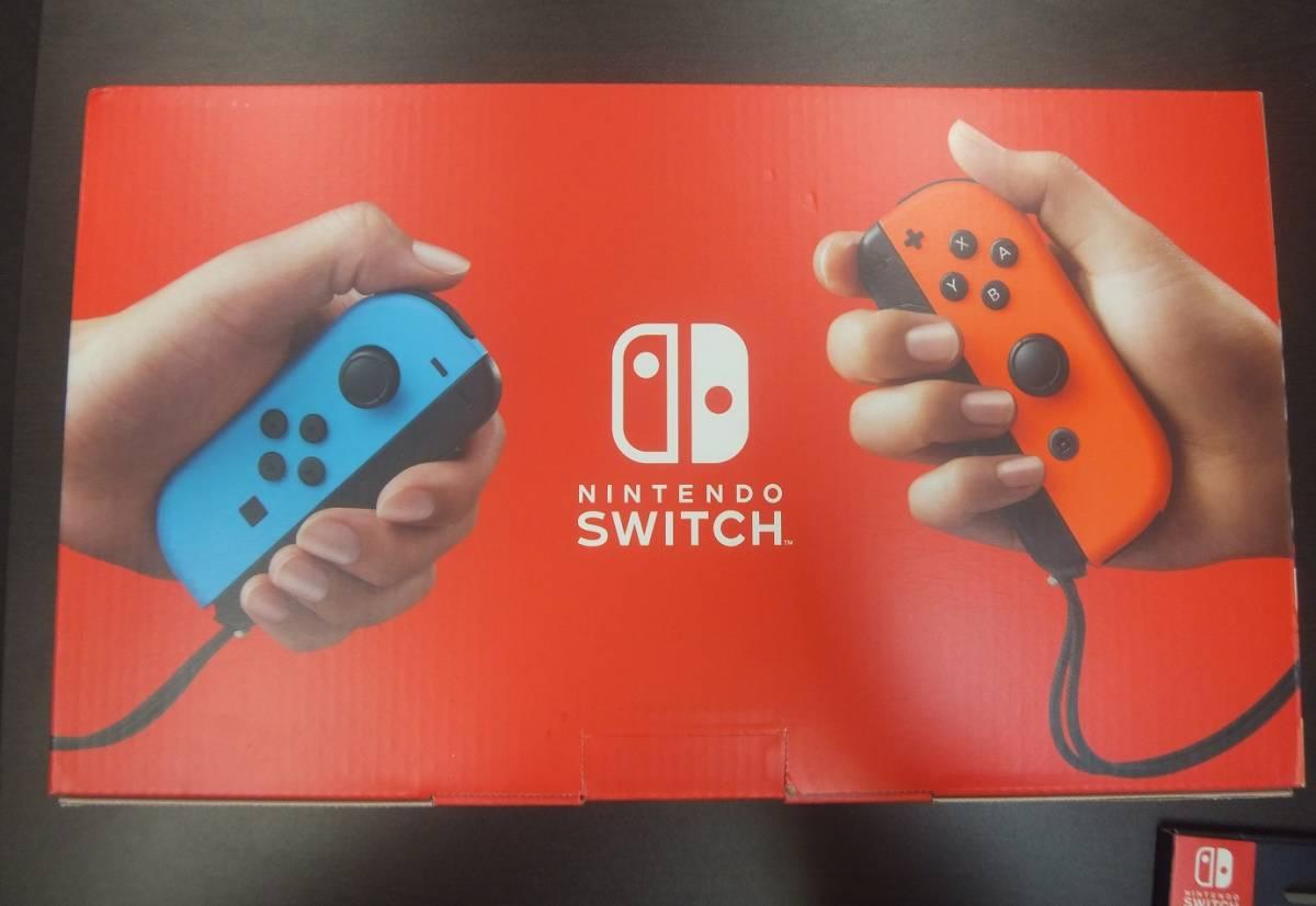 【新品・未使用品】Nintendo Switch 本体 (ニンテンドースイッチ) Joy-Con(L) ネオンブルー/(R) ネオンレッド★フィルムおまけ付き!☆彡_画像3