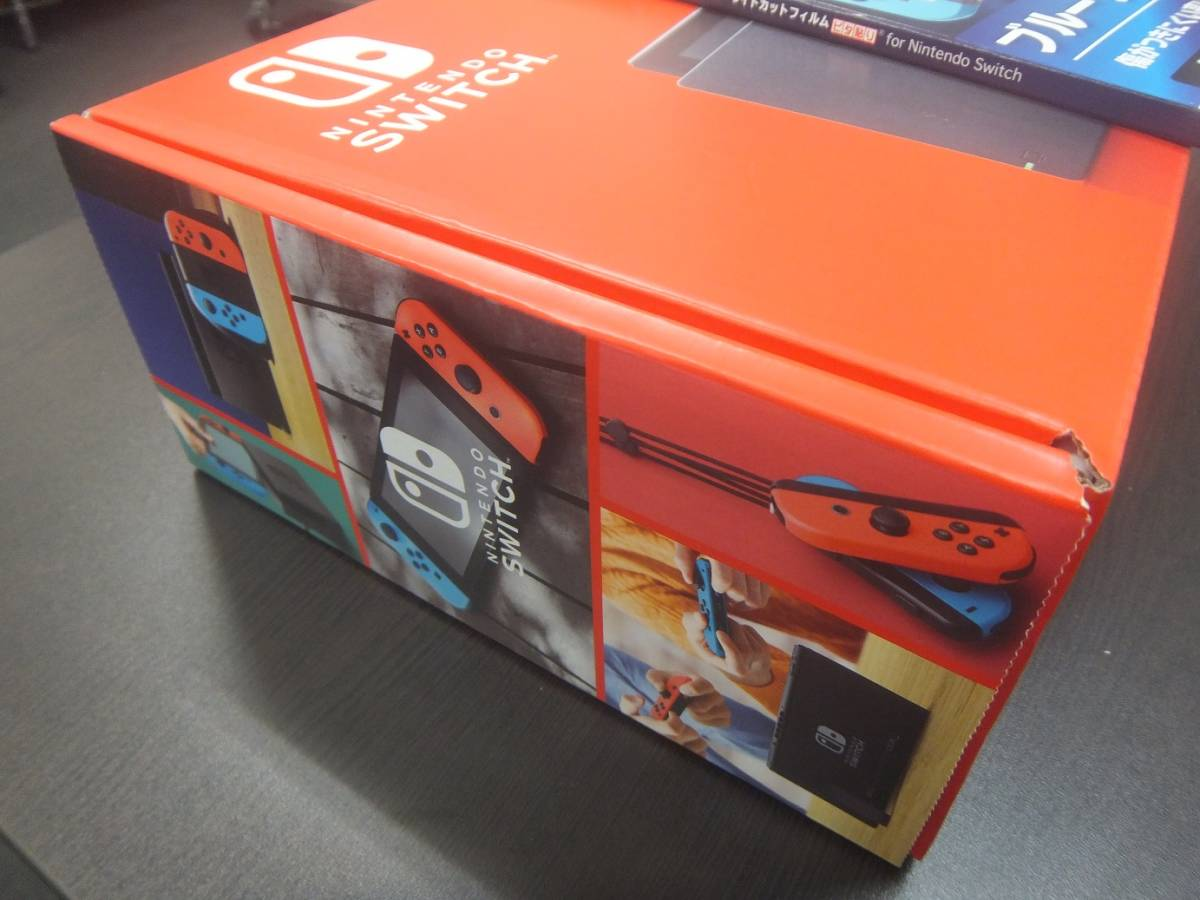 【新品・未使用品】Nintendo Switch 本体 (ニンテンドースイッチ) Joy-Con(L) ネオンブルー/(R) ネオンレッド★フィルムおまけ付き!☆彡_画像8