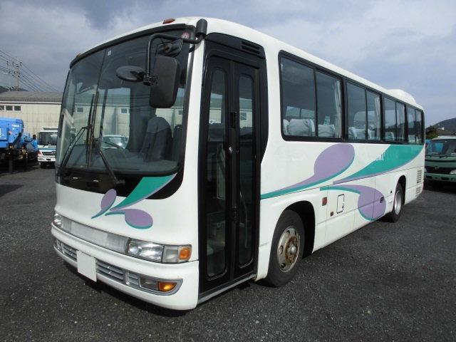「返金保証付:福岡 北九州 平成18年 いすゞ ガーラミオ 46人乗り 中型バス 自動ドア@車選びドットコム」の画像2