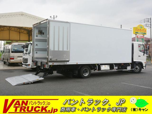 「4トン 「ワイド ベッド付」 冷蔵冷凍車 格納パワーゲート付き サイドドア 積載2300kg リアエアサス 6.2m長 菱重製@車選びドットコム」の画像1