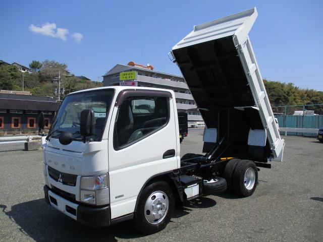 「返金保証付:H25三菱キャンター3t積載高床ダンプ強化三方開(134)(03-29)@車選びドットコム」の画像1