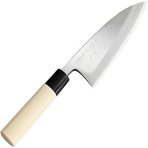 シルバー 貝印 KAI 出刃包丁 関孫六 銀寿 本鋼 150mm 日本製 AK5202_画像1