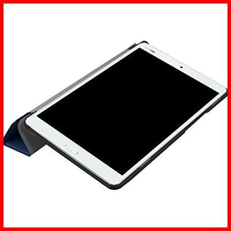 dtab Compact d-01J ケース MediaPad M3 8.4 ケース LeTrade スタンド 機能付き 三つ折 高級PUレザー 超薄型最軽量 傷つけ防止 保護ケース_画像7