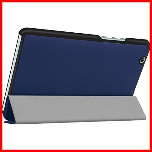 dtab Compact d-01J ケース MediaPad M3 8.4 ケース LeTrade スタンド 機能付き 三つ折 高級PUレザー 超薄型最軽量 傷つけ防止 保護ケース_画像4