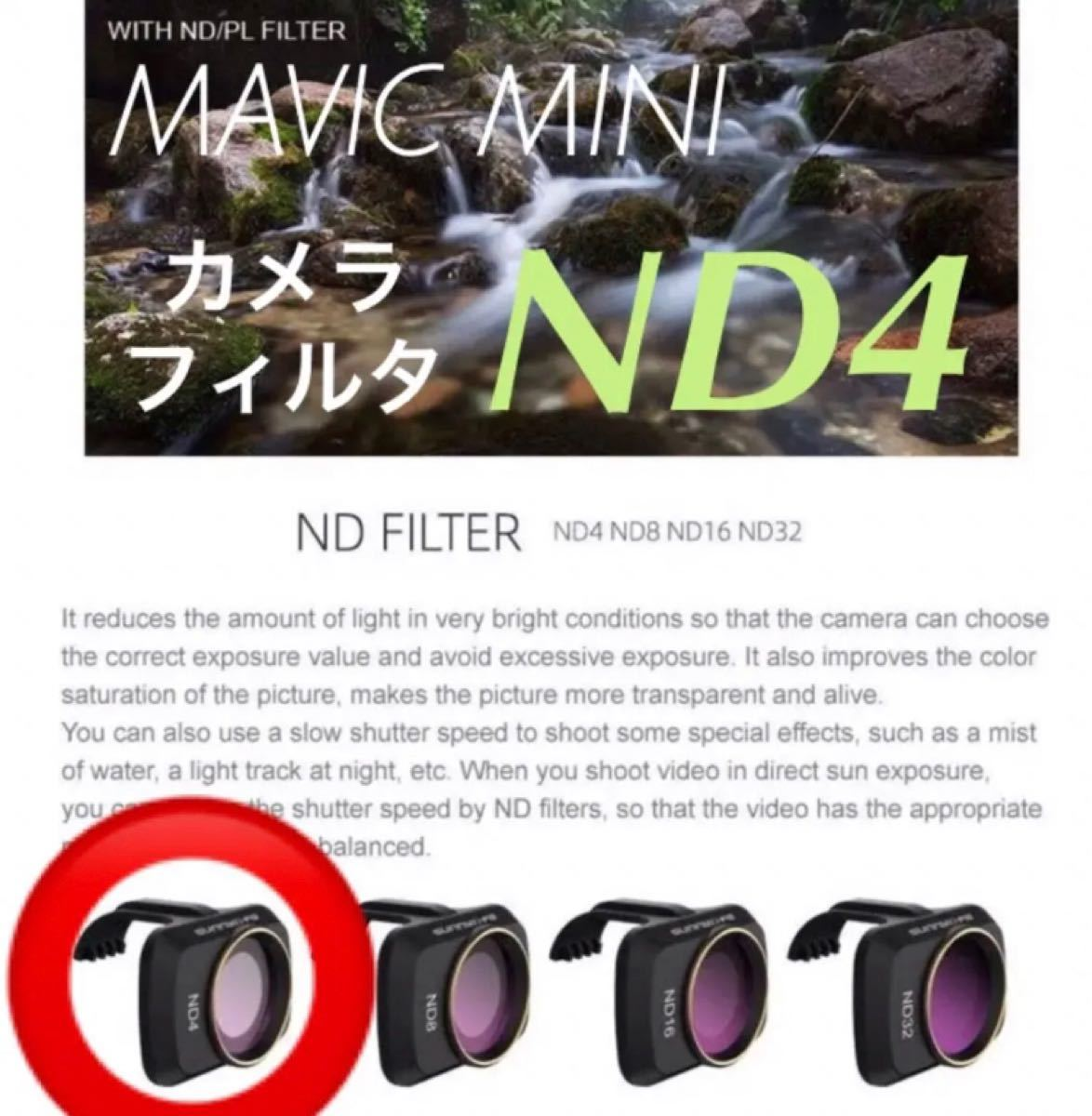 ☆ND4レンズフィルター★MAVIC MINI / DJI MINI 2