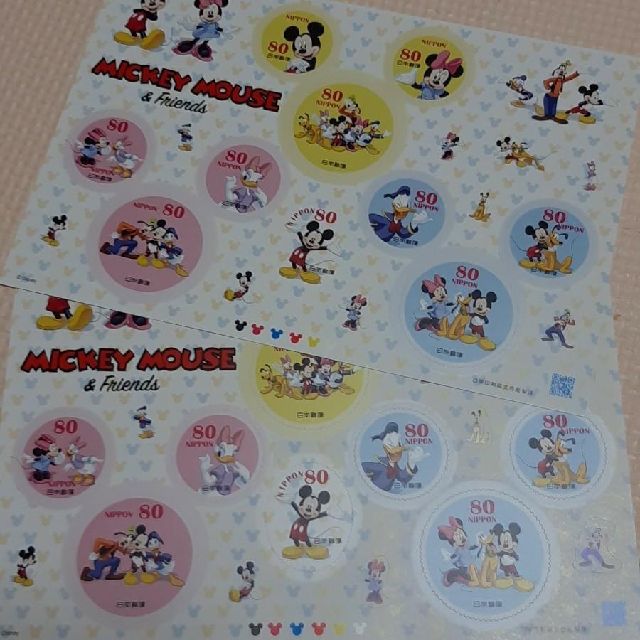 ミッキーマウス ディズニーキャラクター ディズニーキャラクター シールシート ディズニー 記念切手 80円切手20枚 シール切手