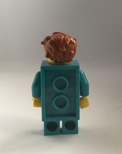 即決 未使用 レゴ LEGO ミニフィグ シティ ミニフィギュア  ブロックスーツの男の子 新色 ターコイズブルー くしゃくしゃヘアー_画像3
