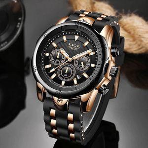 レロジオ Masculino 新ファッション腕時計メンズ LIGE トップブランド腕時計スポーツメンズ防水クォーツ時計男カジュアル軍事腕時計_画像1