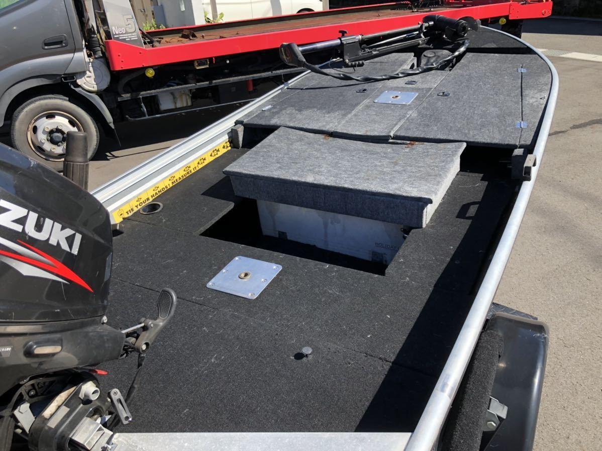 「検査令和5年8月ノーティダック ブラストトレイルトレーラーセット ハイデッキ ライブウェル 船外機ハイマウント 収納多数」の画像3