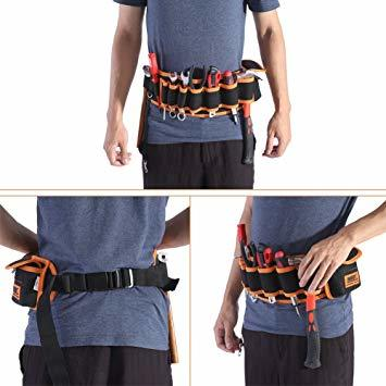工具腰袋 工具袋 工具差し 腰袋 電工ベルト ウエストバッグ ガーデニング 作業 園芸 携帯 工具入れ ベルトバッグ_画像2