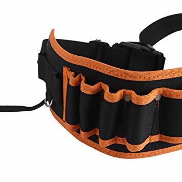 工具腰袋 工具袋 工具差し 腰袋 電工ベルト ウエストバッグ ガーデニング 作業 園芸 携帯 工具入れ ベルトバッグ_画像7