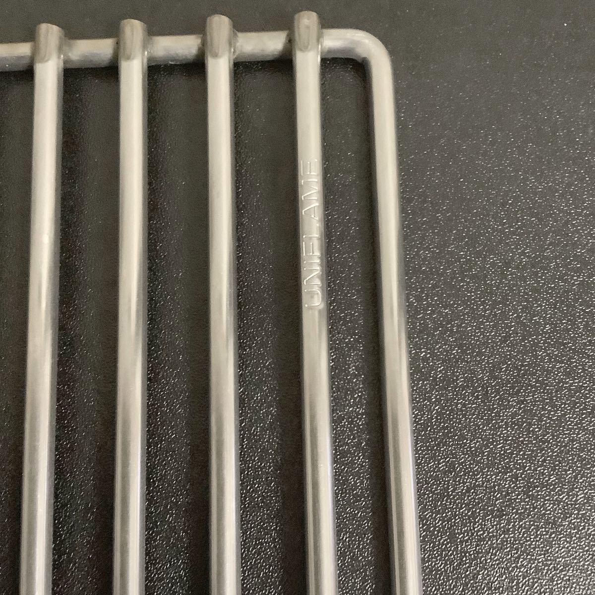 ユニフレーム  ファイアグリル用 ヘビーロストル(未使用)+エンボス鉄板