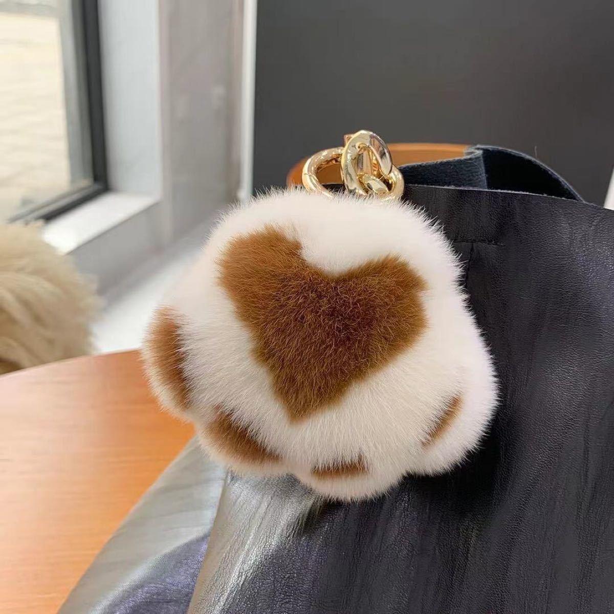 キーリング 肉球 バッグチャーム キーホルダー 犬 ふわふわ 可愛い 秋 冬