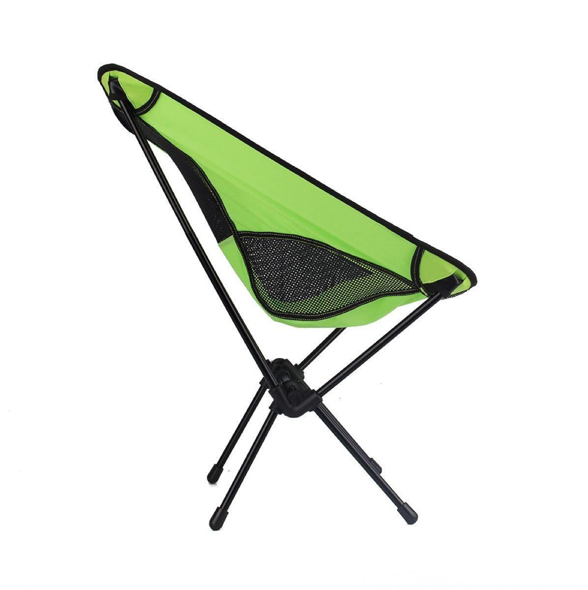 [週末限定]アウトドアチェア コンパクトチェア キャンプ椅子 黄緑