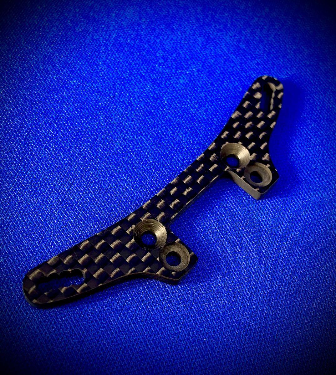 タミヤ TRF419XR フロントダンパーステー 蕨山Carbon製