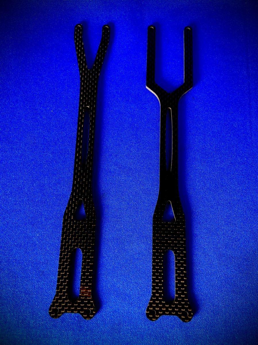 ヨコモ YD-2RR用 板厚2.5㎜ 一体型アッパーデッキ ランドリィラック用 平織 艶あり 蕨山Carbon