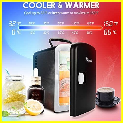 AstroAI 冷蔵庫 小型 ミニ冷蔵庫 小型冷蔵庫 保温 冷温庫 4L 無負荷2-60°C ポータブル 化粧品 家庭 車載両用 保温 保冷 2電源式_画像3