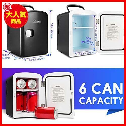 AstroAI 冷蔵庫 小型 ミニ冷蔵庫 小型冷蔵庫 保温 冷温庫 4L 無負荷2-60°C ポータブル 化粧品 家庭 車載両用 保温 保冷 2電源式_画像2