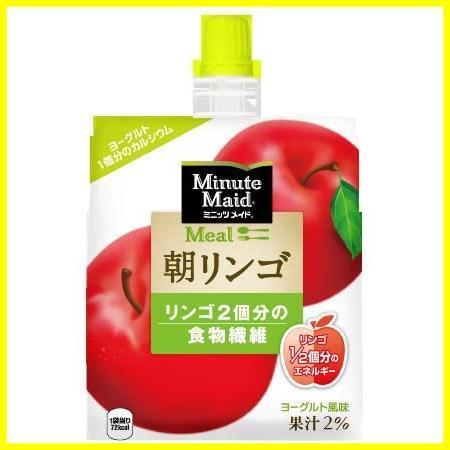 コカ・コーラ ミニッツメイド 朝リンゴ ゼリー 180mlパウチ×6個_画像1
