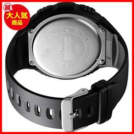 【最安】Timever(タイムエバー)デジタル腕時計 ★色:ブラック2★ ストップウォッチ MM-10 多機能付き スポーツ うで時計 アラーム メンズ_画像5