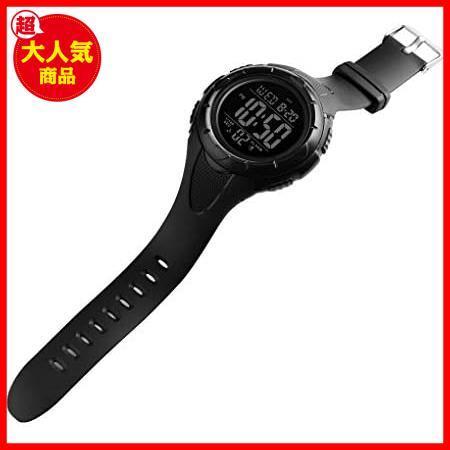 【最安】Timever(タイムエバー)デジタル腕時計 ★色:ブラック2★ ストップウォッチ MM-10 多機能付き スポーツ うで時計 アラーム メンズ_画像6