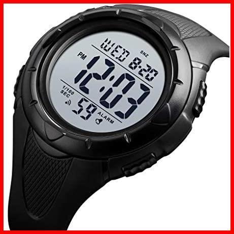【最安】Timever(タイムエバー)デジタル腕時計 ★色:ブラック2★ ストップウォッチ MM-10 多機能付き スポーツ うで時計 アラーム メンズ_画像1
