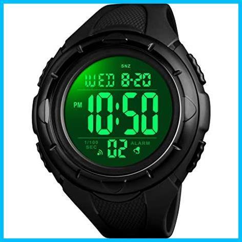 【最安】Timever(タイムエバー)デジタル腕時計 ★色:ブラック2★ ストップウォッチ MM-10 多機能付き スポーツ うで時計 アラーム メンズ_画像2
