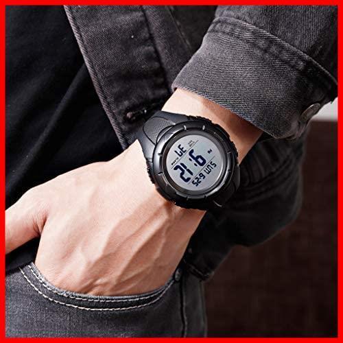 【最安】Timever(タイムエバー)デジタル腕時計 ★色:ブラック2★ ストップウォッチ MM-10 多機能付き スポーツ うで時計 アラーム メンズ_画像3