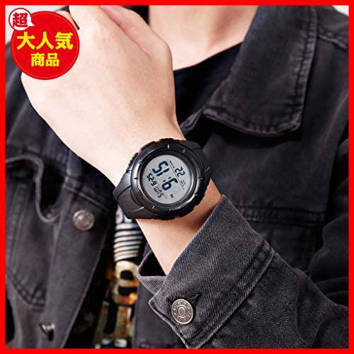 【最安】Timever(タイムエバー)デジタル腕時計 ★色:ブラック2★ ストップウォッチ MM-10 多機能付き スポーツ うで時計 アラーム メンズ_画像4