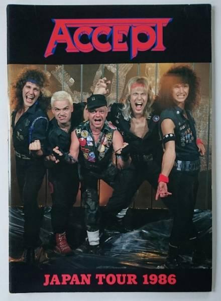 ACCEPT アクセプト JAPAN TOUR 1986 ダークシュナイダー パンフレット