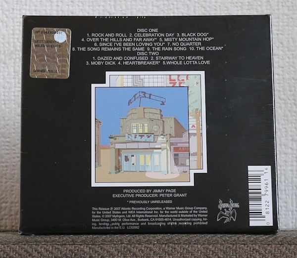 欧州製/CD/2枚組/レッド・ツェッペリン/永遠の詩・狂熱のライヴ/Led Zeppelin/The Song Remains the Same/2007_画像2