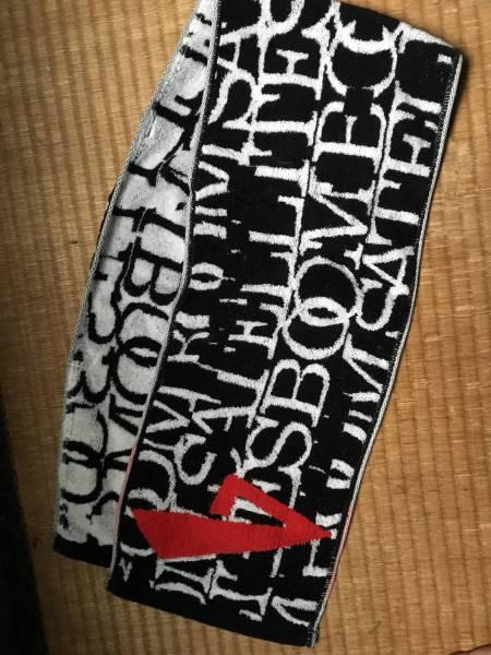 ブンブンサテライツマフラータオル黒×白