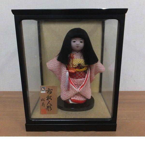 日本女����9�Y�_【y12/m】松菊作 市松人形 女の子 高さ26cm 和装 日本人形