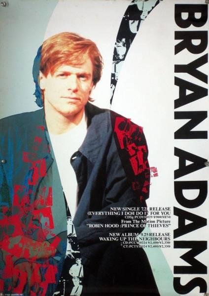 BRYAN ADAMS ブライアン・アダムス B2ポスター (1Y01012)
